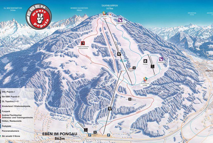 Eben - monte popolo - Ski amade
